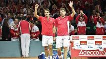 Švýcary dělí od triumfu ve finále Davis Cupu jediný bod