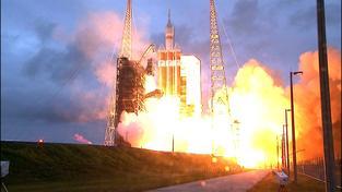 Start rakety Orion respektive její páteční testovací mise otevírá pro Američany novou vesmírnou kapitolu