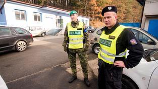 Policie hlídala ve čtvrtek 4. prosince prostor v areálu Vlárských strojíren