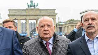 Gorbačov v německé metropoli na oslavách 25. výročí pádu Berlínské zdi