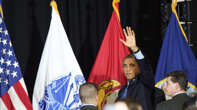 Americký prezident Obama na základně McGuire-Dix-Lakehurst v New Jersey