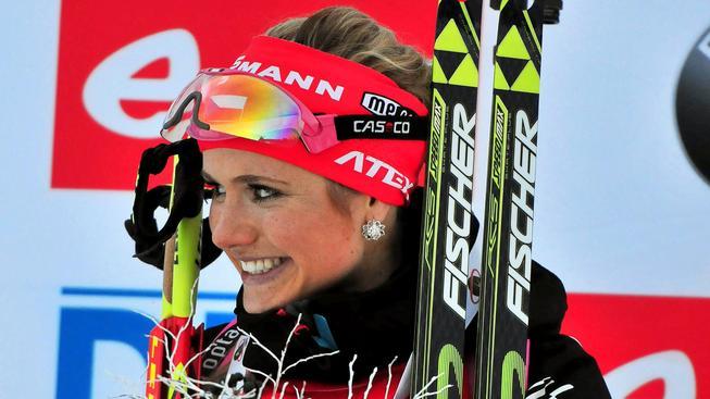 Gabriela Soukalová po triumfu ve sprintu ve slovinské Pokljuce