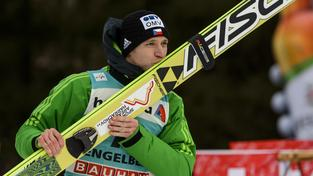 Roman Koudelka slaví vítězství v Engelbergu (ilustrační foto)