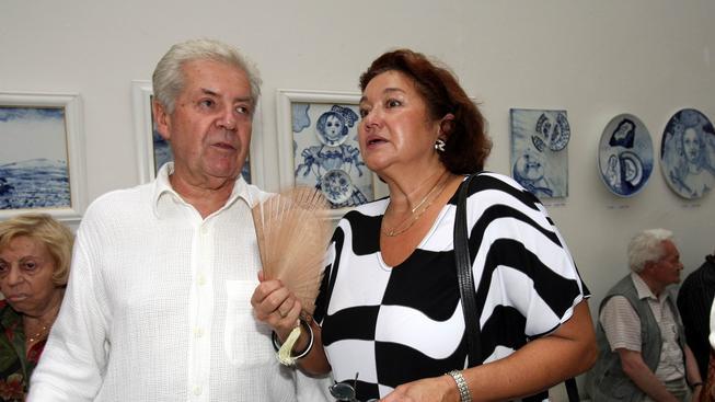 Přemek Podlaha s manželkou.
