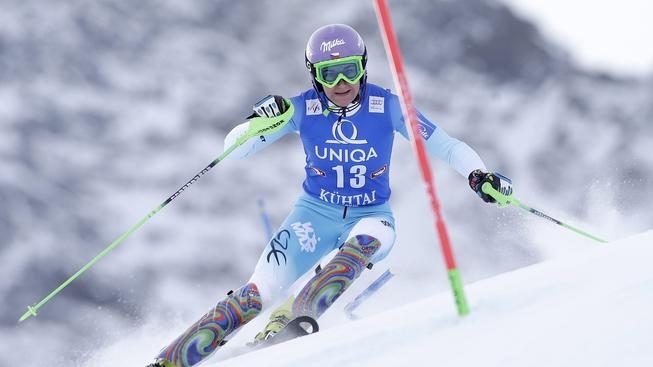 Šárce Strachové přineslo číslo 13 ve slalomu v Kühtai štěstí