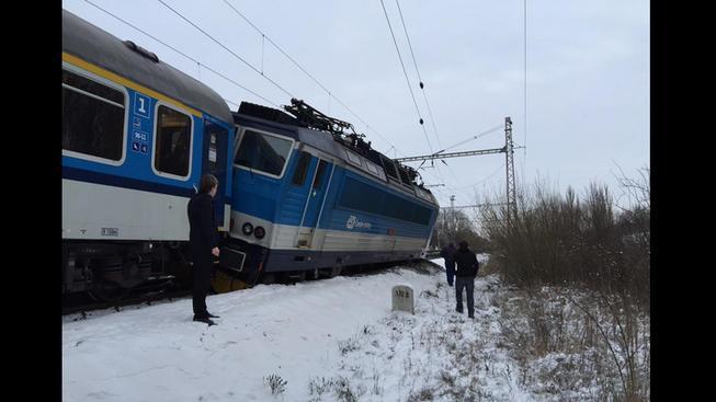 Nehoda vlaků v Poříčanech očima na fotografii cestujícího Jaromíra Lojkáska.