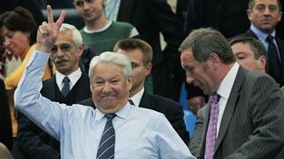Boris Jelcin na tenise v roce 2004