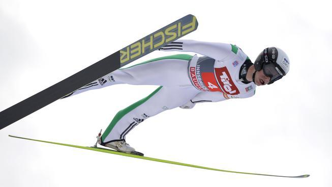 Roman Koudelka při skoku na Turné čtyř můstků v Innsbrucku