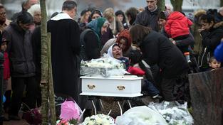 Pohřeb romské holčičky Marie Francesky