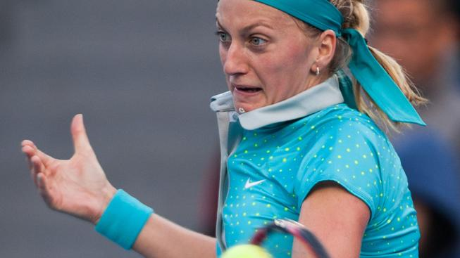 Petra Kvitová měla s Terezou Smitkovou problémy hlavně v 1. setu
