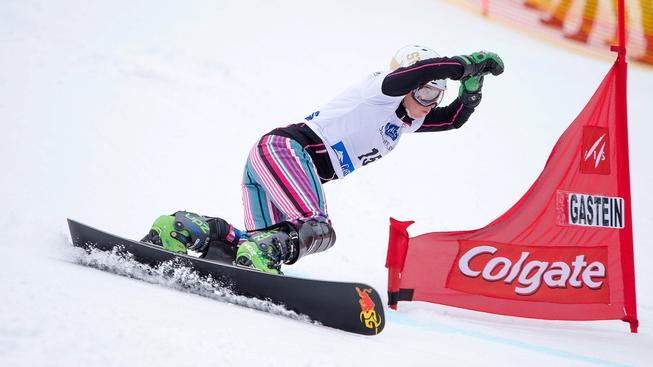 Ester Ledecká během paralelního slalomu na svahu v Bad Gasteinu