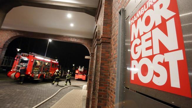 Redakce německého listu Hamburger Morgenpost se stala terčem žhářského útoku