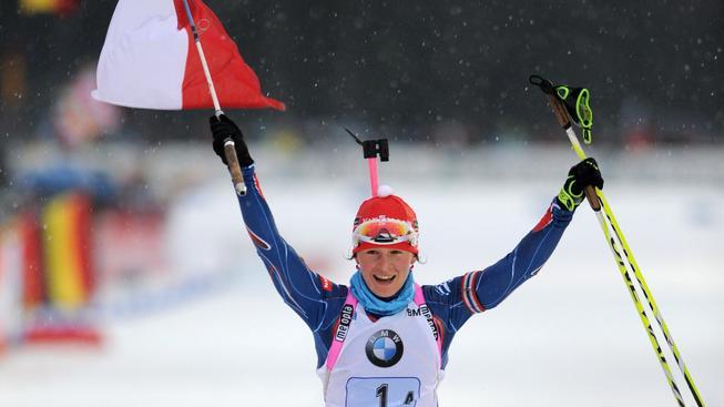 Veronika Vítková dovezla jako finišmanka českou štafetu na 1. místě