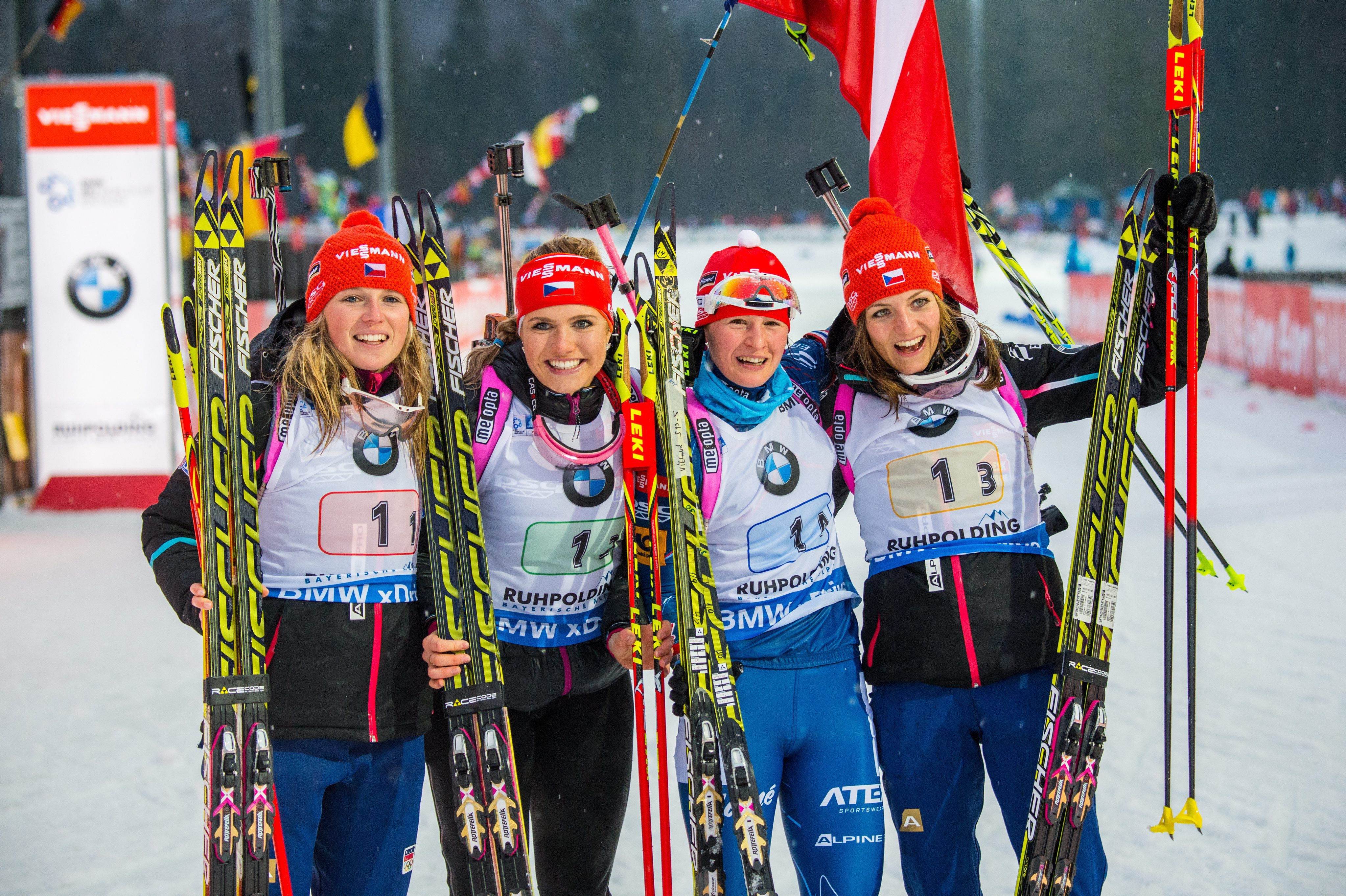 VIDEO: Když dostanou české biatlonistky záchvat smíchu