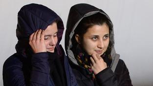 Greta Ramelli (20 let) e Vanessa Marzullo (21 let) přiletěly ve čtyři hodiny ráno