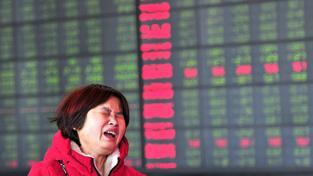 Nešťastná čísnká investorka na burze v Šanghaji