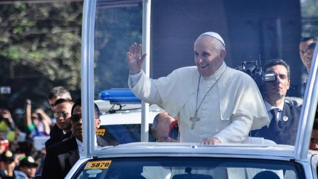 Papež František během návštěvy Filipín