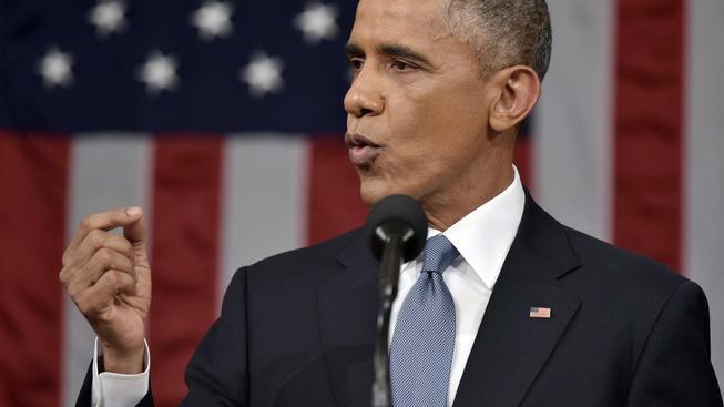 Barack Obama pronesl tradiční poselství o stavu unie, s podporou Kongresu však může počítat jen v několika málo bodech