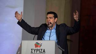 Vůdce strany SYRIZA Alexis Tsipras