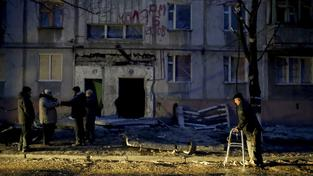 Mariupol po bombardování, při kterém zemřely tři desítky lidí