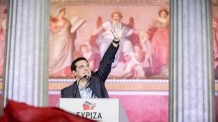 Předseda vítězné strany Syriza Alexis Tsipras