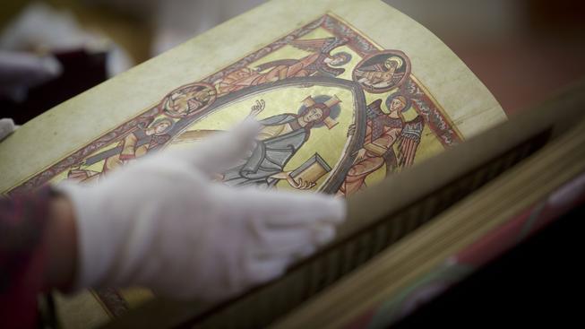 Faximilie Vyšehradského kodexu, ilustrační snímek