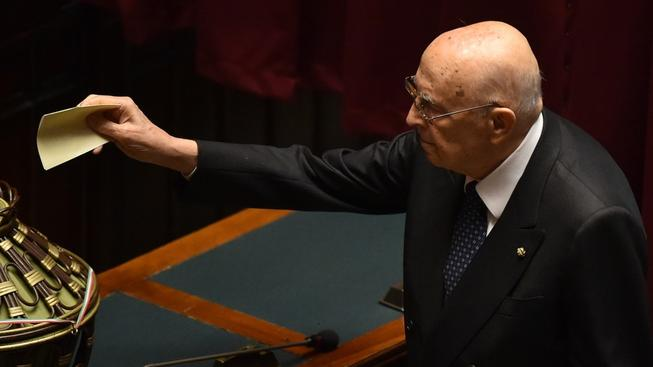 Bývalý italský prezident Giorgio Napolitano hlasoval pro svého nástupce