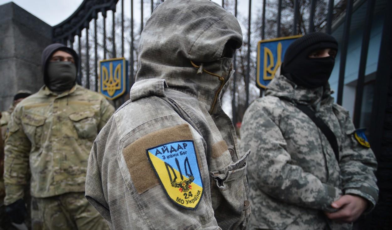 Na ukrajinské ministerstvo obrany zaútočili bojovníci praporu Ajdar