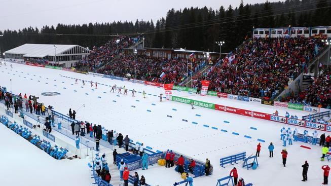Vysočina Arena při mistrovství světa v biatlonu 2013 (ilustrační foto)