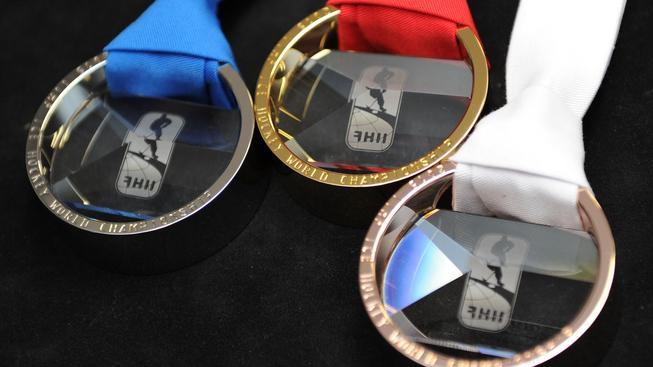 Medaile, o které se bude hrát na letošním hokejovém MS
