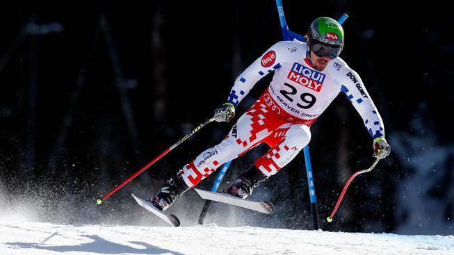 Ondřej Bank na trati superobřího slalomu v Beaver Creeku