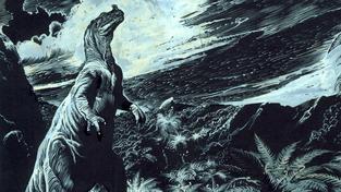 Bez Zdeňka Buriana by Godzilla možná ani nevznikla. Na snímku jedna z jeho ilustrací