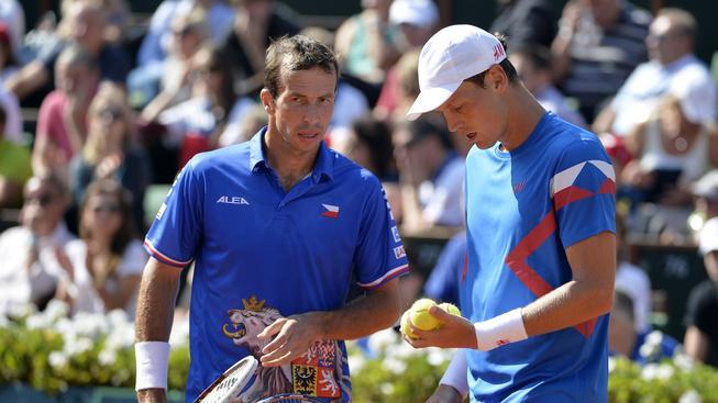 Radek Štěpánek i Tomáš Berdych budou v utkání Davis Cupu s Austrálií chybět
