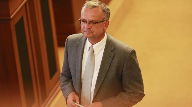 Miroslav Kalousek dnes do proslovů ve Sněmovně zapojil ideje a hodnoty
