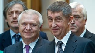 Martin Stropnický zůstane v ANO v pozadí, prvním místopředsedou hnutí bude pravděpodobně Jaroslav Faltýnek (uprostřed)