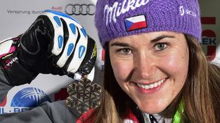 Šárka Strachová s bronzem ze slalomu MS v Beaver Creeku