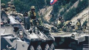 Jeden ze snímků, které měly dokazovat přítomnost ruských tanků na Ukrajině, a přitom byly vyfoceny před několika lety úplně jinde