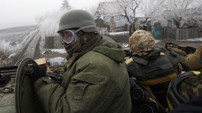 Ukrajinští vojáci v Debalcevu
