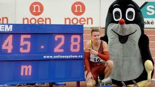 Pavel Maslák se na MČR v atletice blýskl na čtyřstovce skvělým časem