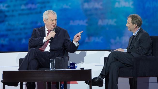 Zeman se účastnil Americko-izraelského výboru pro veřejné záležitosti v USA