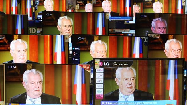 Miloš Zeman v televizi