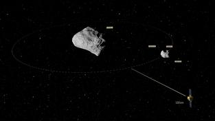Projekt AIM počítá s tím, že evropská sonda získá potřebné údaje o dvojplanetce Didymos