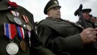 Veteráni mají pocit, že lidé ztrácejí úctu k válečným obětem, říká Skácel. Ilustrační snímek