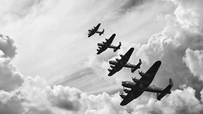 Ilustrační snímek: Své oběti leteckých útoků má i Československo