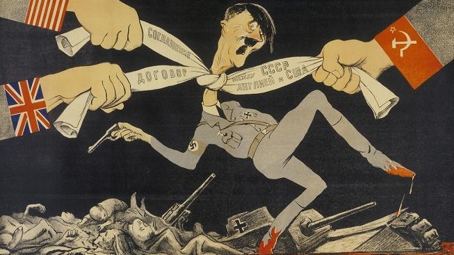 Sovětský dobový plakát