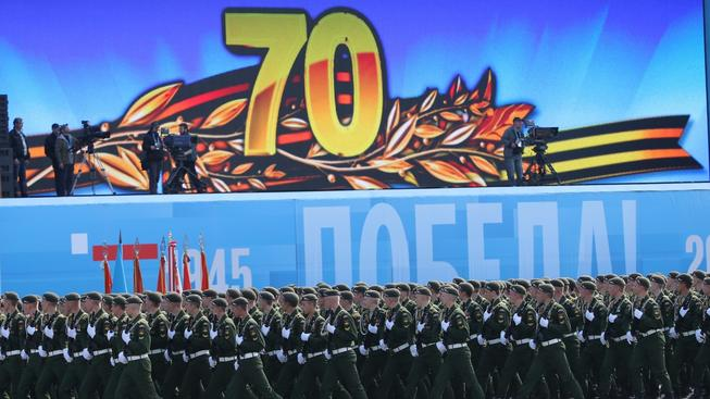 Ruská přehlídka k 70. výročí konce 2. světové války
