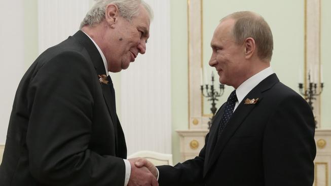 Zeman s Putinem v Moskvě