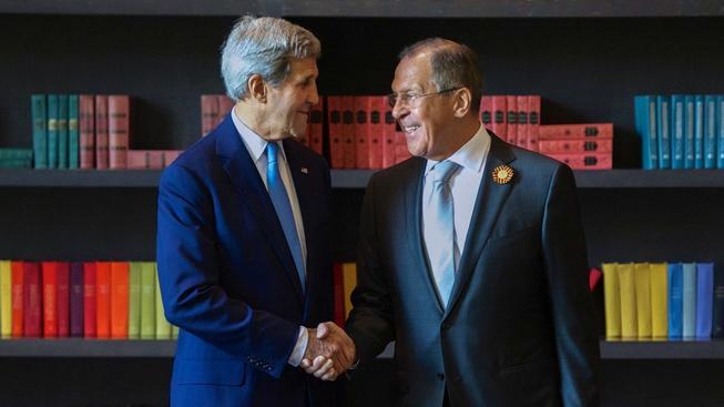Kerry a Lavrov při setkání v Soči