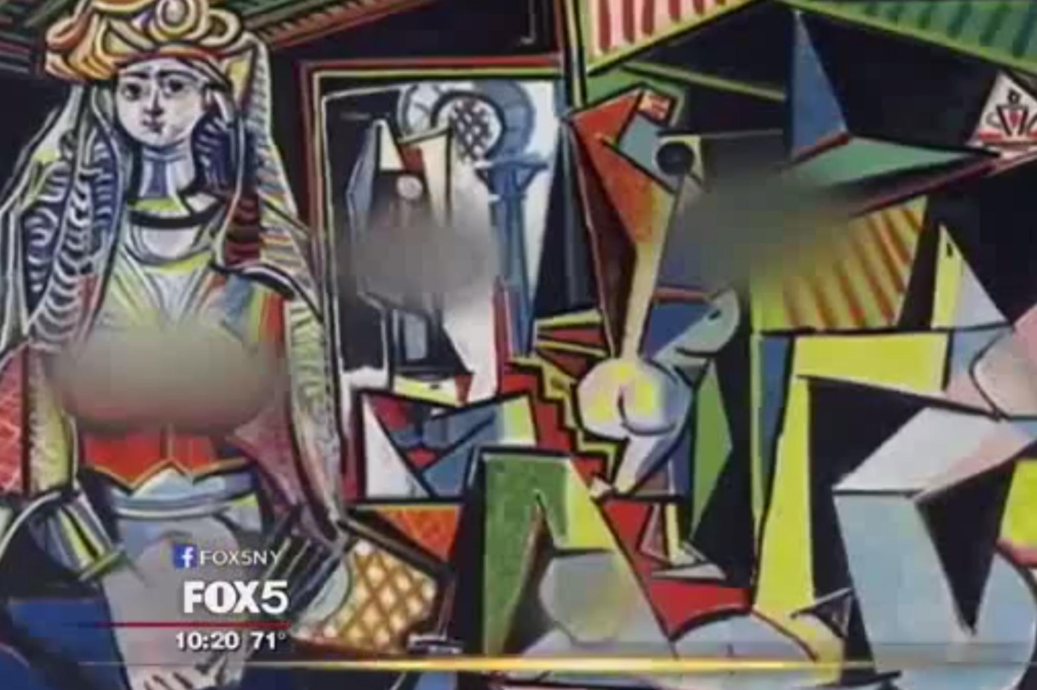 Prudérní Američané. Na Picassově obrazu zakryla Fox News ženám ňadra