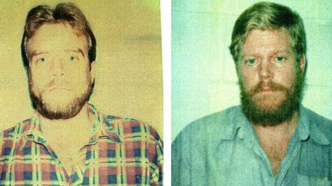 Michael Kenneth McAlister (vlevo) si byl v roce 1986 s Normanem Brucem Derrem velmi podobný